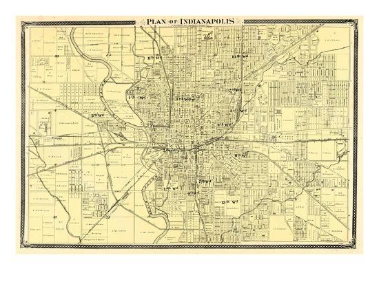 1876, Indianapolis - Plan, Indiana, United States Giclee Print by   on map of northern indianapolis, show on us map indianapolis, satelite map indianapolis, world map indianapolis, map of north indianapolis, county map indianapolis, usa map indianapolis, street map indianapolis, state map location in indianapolis, weather map indianapolis, things to do in indianapolis, indiana map indianapolis, judgemental map indianapolis, detailed map of downtown indianapolis, map with landmarks of indianapolis, printable map of indianapolis, united states atlas with capitals, large map of indianapolis,