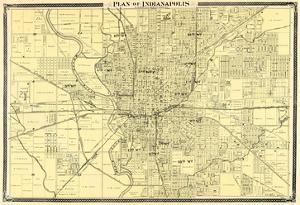 1876, Indianapolis - Plan, Indiana, United States
