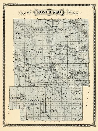 1876, Kosciusko County, Indiana, United States--Giclee Print