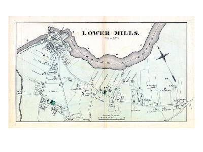 1876, Lower Mills - Milton, Massachusetts, United States--Giclee Print
