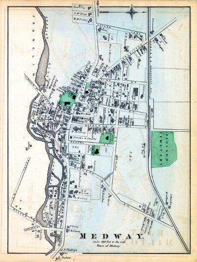 1876, Medway Town, Massachusetts, United States--Giclee Print