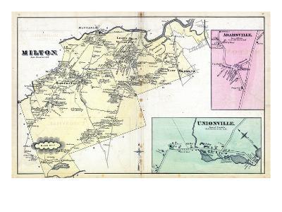 1876, Milton, Adamsville, Unionville, Massachusetts, United States--Giclee Print