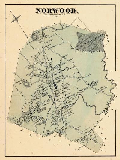 1876, Norwood, Massachusetts, United States--Giclee Print