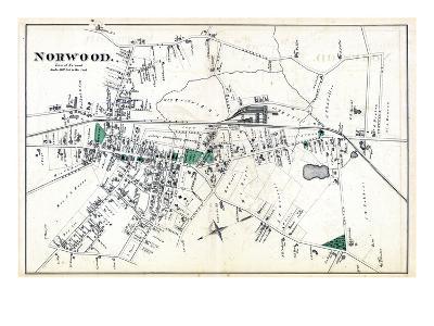 1876, Norwood Town, Massachusetts, United States--Giclee Print