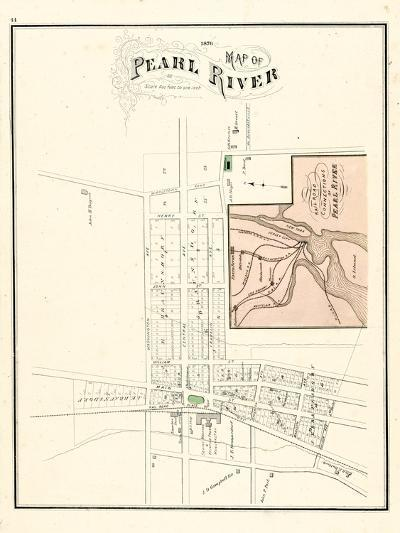 1876, Pearl River Map, New York, United States--Giclee Print