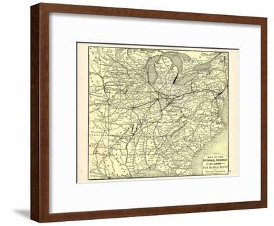 1876, Pittsburgh, Cincinnati and St. Louis R.R. Pan Handle Route, Pennsylvania, United States
