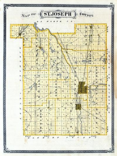 1876, St. Joseph County, Indiana, United States--Giclee Print