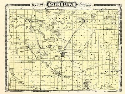 1876, Steuben County, Indiana, United States--Giclee Print