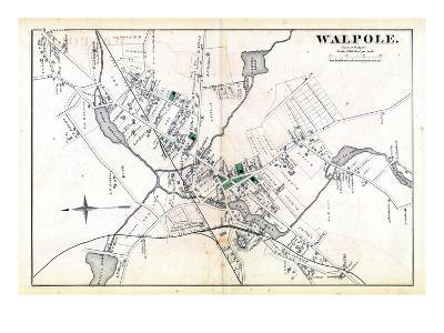 1876, Walpole Town, Massachusetts, United States--Giclee Print