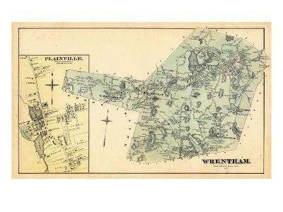 1876, Wrentham, Plainville Town, Massachusetts, United States--Giclee Print