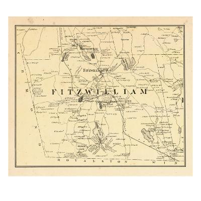 1877, Fitzwilliam Township, Bokerville, Sip Pond, South Pond, New Hampshire, United States--Giclee Print