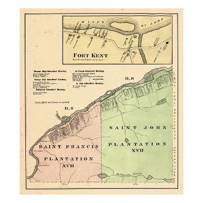 1877, Fort Kent, Saint Francis Plantation, Saint John Plantation, Maine, United States--Giclee Print