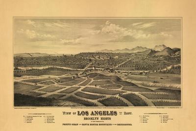 1877 Los Angeles Map-N^ Harbick-Art Print