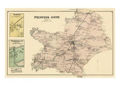 1877, Princess Anne 1, Marion, Fishing Island, Maryland, United States--Giclee Print