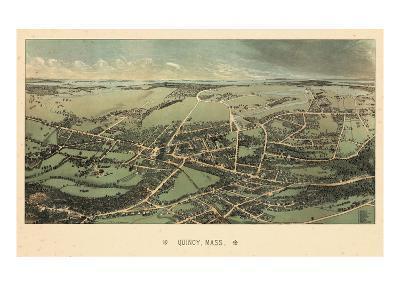 1877, Quincy Bird's Eye View, Massachusetts, United States--Giclee Print