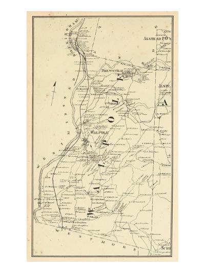 1877, Walpole Township, Alsted, Drewsville, New Hampshire, United States--Giclee Print