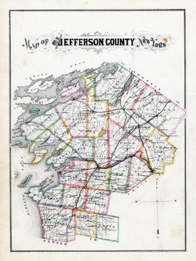 1878, Jefferson County Map, New York, United States--Giclee Print