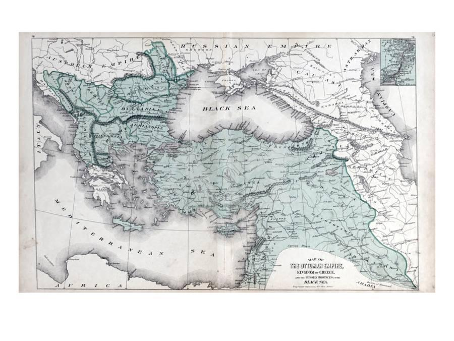 1878, The Ottoman Empire, Kingdom of Greece, Black Sea Giclee Print on empire of japan map, kingdom of poland map, grand duchy of tuscany map, ptolemaic kingdom map, kingdom of denmark map, ancient greece map, confederate states of america map, republic of colombia map,