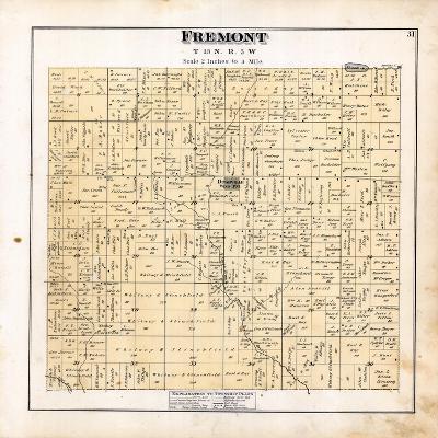 1879, Fremont Township, Dushville, Winn, Pine River, Michigan, United States--Giclee Print