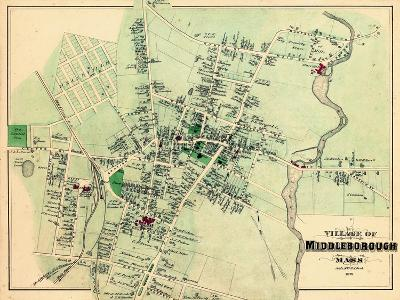 1879, Middleborough Village, Massachusetts, United States--Giclee Print
