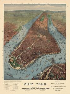 1879, New York City 1879 Bird's Eye View, New York, United States