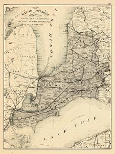 1879, Ontario - Counties, Essex, Kent, Lambton, Huron, Perth, Middlesex, Elgin, Canada, Oxford