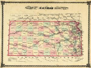 1879, Railroad Map, Kansas, StateUnited States