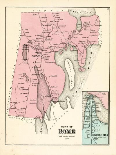 1879, Rome, Belgrade Mills, Maine, United States--Giclee Print