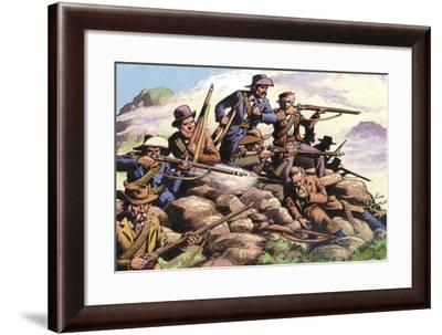 1880, Boers of the Transvaal Fighting at Majuba Hill During the First Boer War-Pat Nicolle-Framed Giclee Print