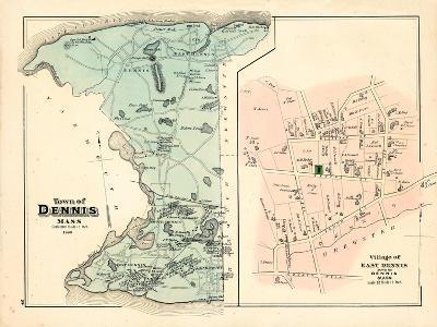 1880, Dennis Town, Dennis Village East, Massachusetts, United States--Giclee Print