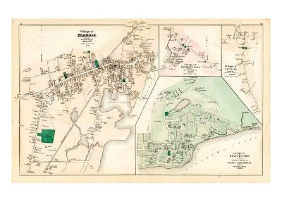 1880, Hyannis Village, Martons Mills Village, Cotuit Village, Hyannis Port Village, Massachusetts--Giclee Print