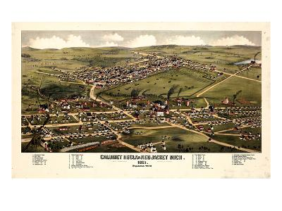 1881, Calumet - Hecla - Red Jacket Bird's Eye View, Michigan, United States--Giclee Print