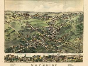 1882, Cheshire Bird's Eye View, Connecticut, United States