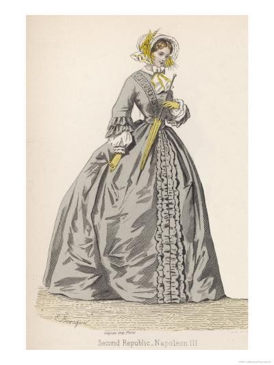 1882 Depiction of 1840s Fashions-F. Lix-Giclee Print
