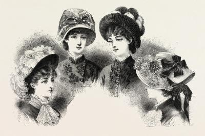 1882 Fashionable Hats, Fashion--Giclee Print