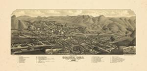 1882, Golden Bird's Eye View, Colorado, United States