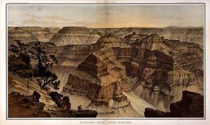 1882, Grand Canyon - Sheet XV - Panorama from Point Sublime, Arizona, United States