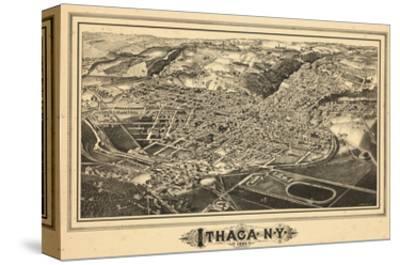 1882, Ithaca Bird's Eye View, New York, United States