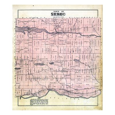 1882, Sebec Town, Maine, United States--Giclee Print