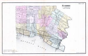 1883, Ecorse Township, Detroit River, Grassy Island, Mud Island, Michigan, United State