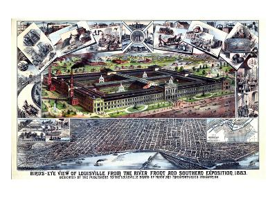 1883, Louisville Southern Exposition Bird's Eye View, Kentucky, United States--Giclee Print