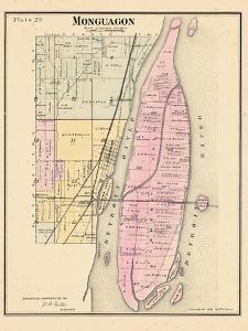 1883, Monguagon Township, Trenton, Detroit River, Hickory Isle, Sibleys Station, Michig