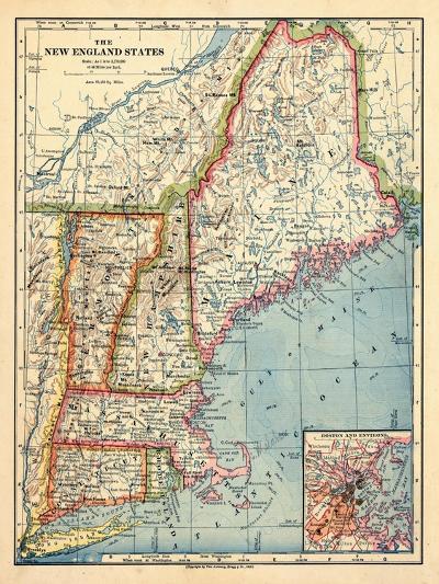 1883, New England 1883, Maine, United States--Giclee Print