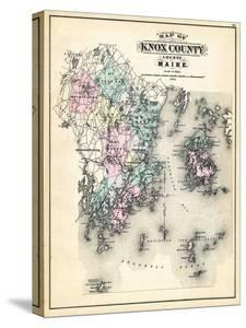 Beautiful maps of maine canvas artwork for sale posters and prints 1884 knox county map maine united states freerunsca Image collections