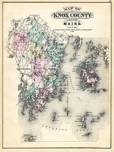 Beautiful maps of maine artwork for sale posters and prints art 1884 knox county map maine united states freerunsca Image collections
