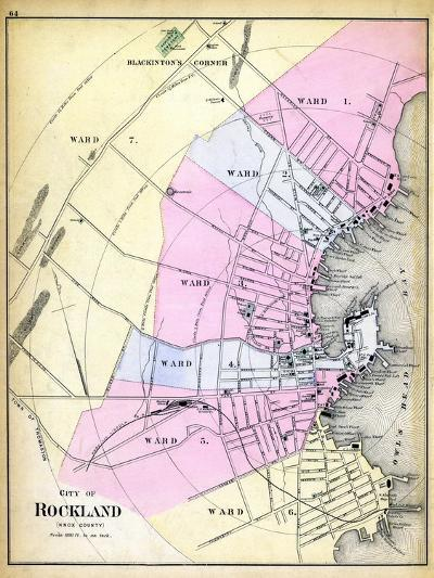 1884, Rockland City, Maine, United States--Giclee Print