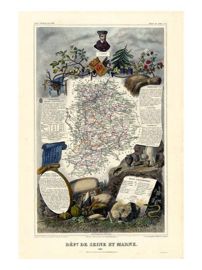 1885, France, Wine Regions of France - North--Giclee Print
