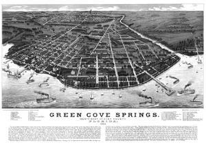 1885, Green Cove Springs Bird's Eye View, Florida, United States