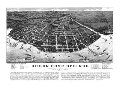 1885, Green Cove Springs Bird's Eye View, Florida, United States--Giclee Print