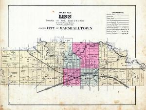 1885, Linn and the City of Marshalltown, Iowa, United States